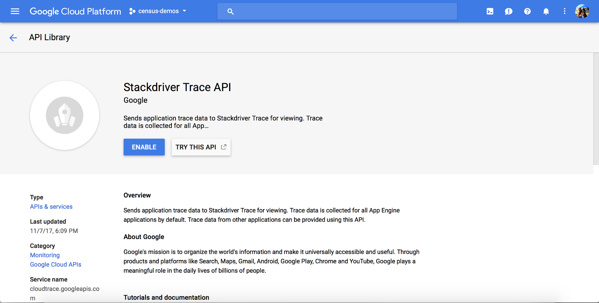 Setup and Configure Google Stackdriver